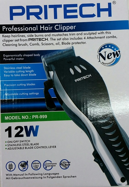 PRITECH PROFESSIONAL HAIR CLIPPER 12W
