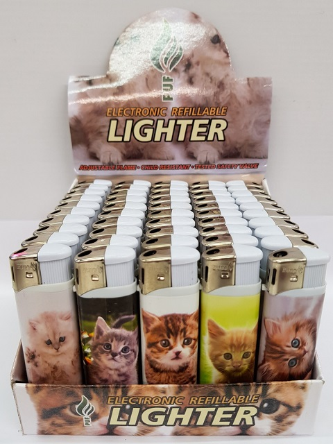 PUF CAT Printed Electronic Refillable Lighter 50