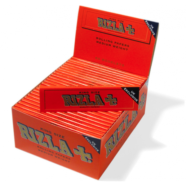 Rizla King Slim Red (UK EXCLUSIVE) Rolling Paper (50)