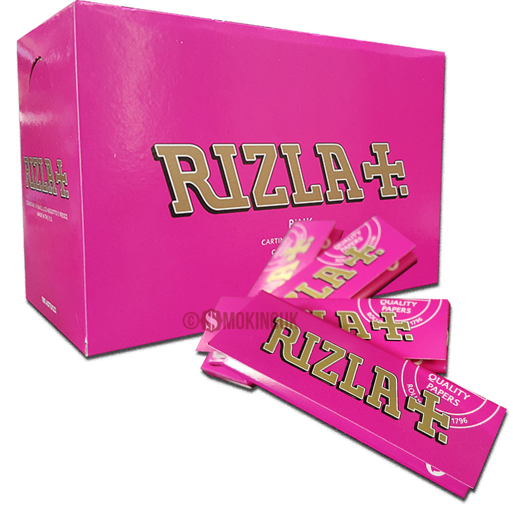 RIZLA PINK ROLLING PAPER REGULAR 100 BOOKLETS