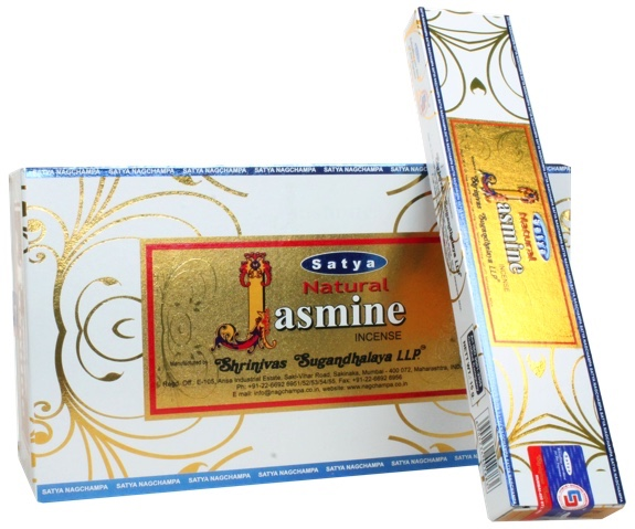 SATYA NATURAL JASMINE INCENSE STICKS 15g x12 box