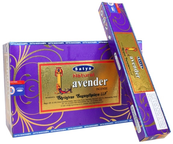 SATYA NATURAL LAVENDER INCENSE STICKS 15g x12 box