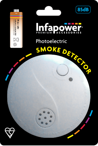Fire Smoke Alarm Extra Loud Sound Battery Included (1)