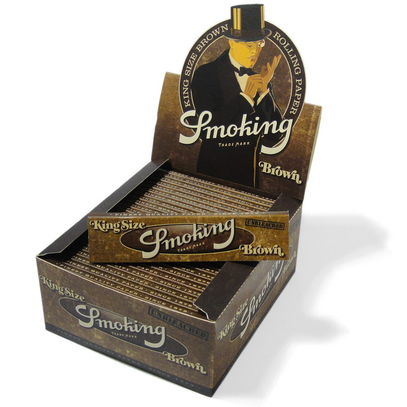 Smoking Brown King Size Rolling Papers 50 8414775013554
