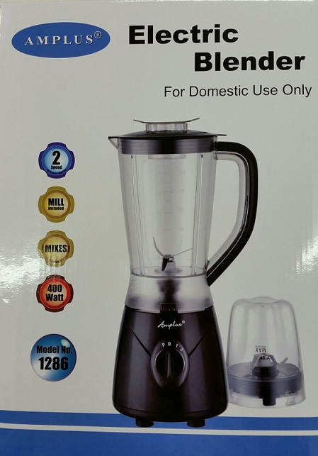 Amplus Electric Blender with Mill (1286)1.2 Ltr