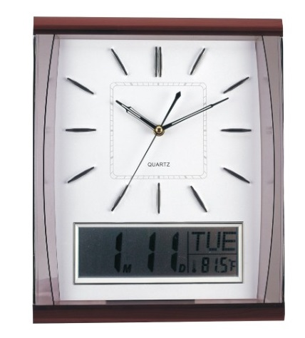 Amplus Dual Digital & Analog Wall Clock PW066 (1)