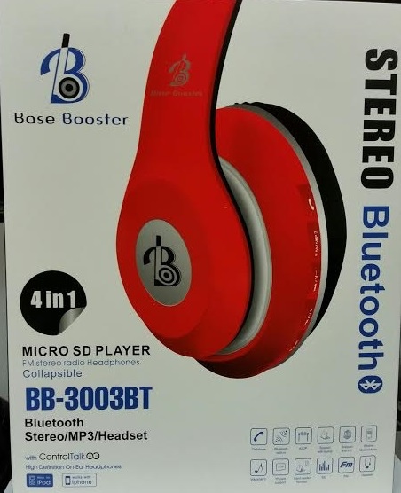 BLUETOOTH STEREO WIRELESS HEADPHONES HEADSET BB-3003BT X1