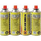 Butane Gas Cartridge for Portable Gas Stoves (4 cans).