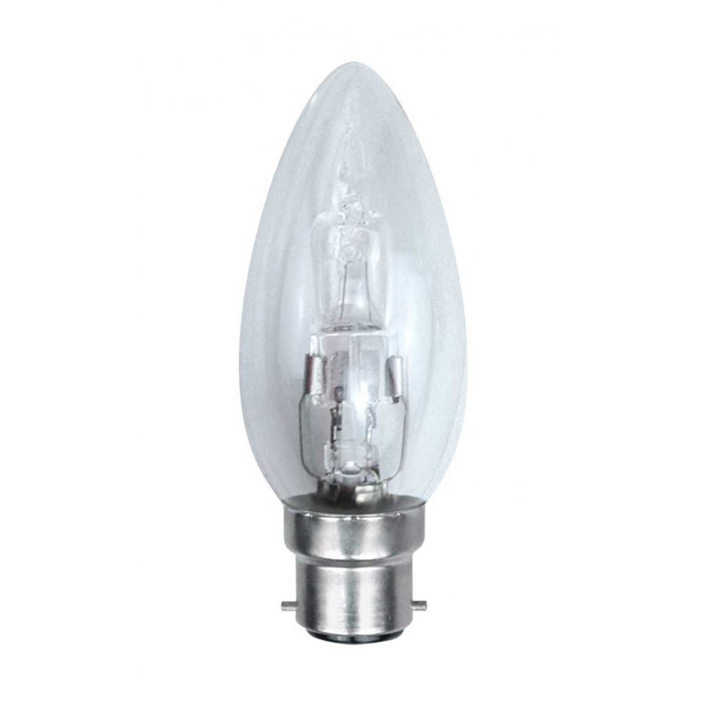 Candle Eco Halogen Lamp BC 33 = 40W Clear (pack of 10)
