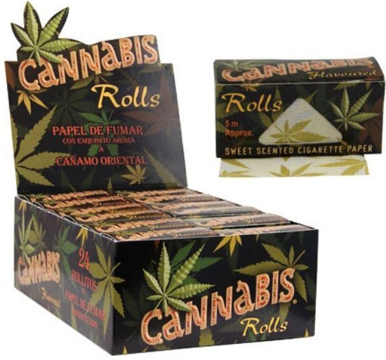 Cannabis Flavoured Rolls Rolling Paper Box of 24 Rolls