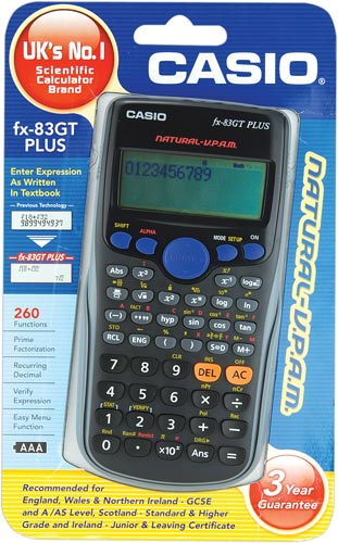 CASIO FX83 GTPLUS Scientific Calculator