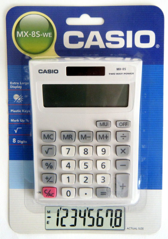 Casio MX8S WE Desk Calculator