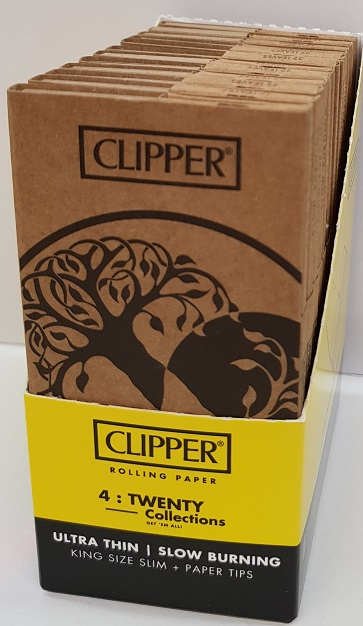 CLIPPER COMBI KING SIZE SLIM PAPERS & TIPS PK OF 12 TREE OF LIFE