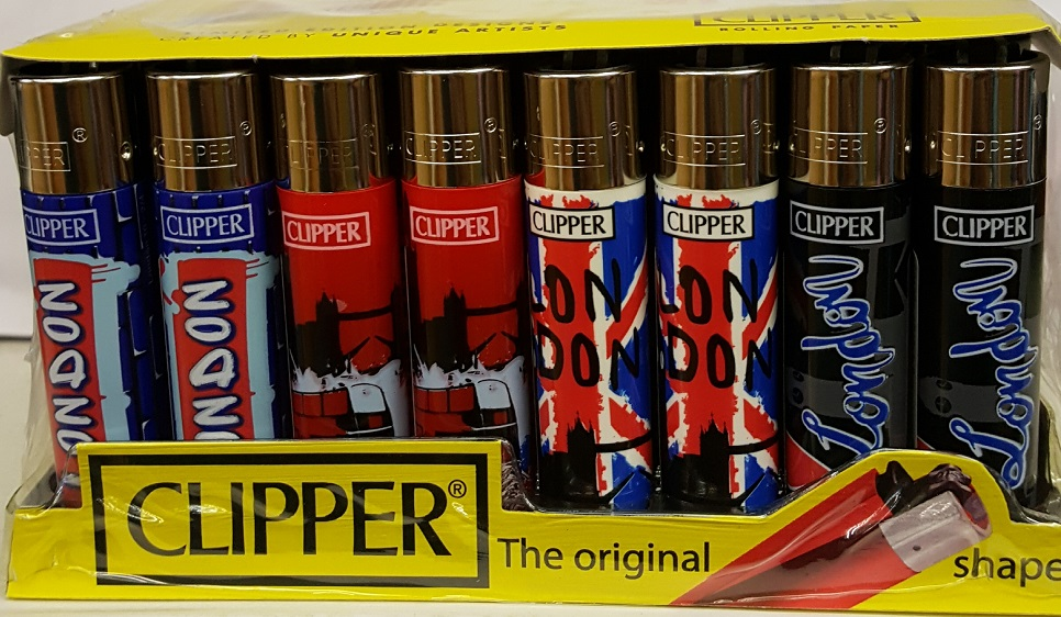 Clipper London 10 Print Flint Lighter 40