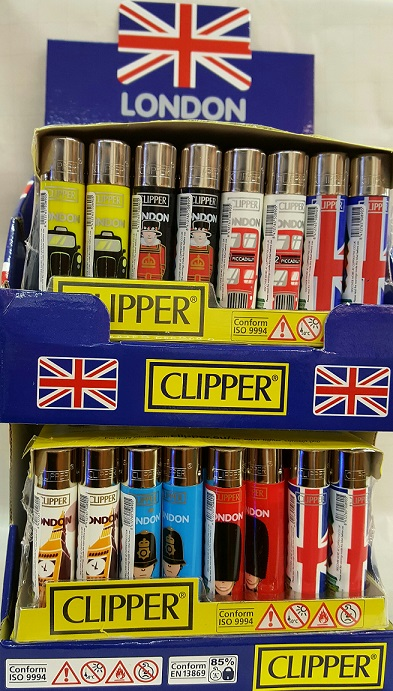 Clipper London City Scenes Flint Lighter Display Stand of 96