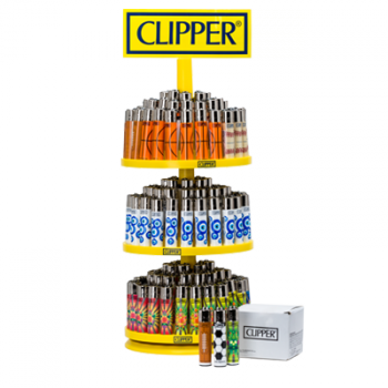 144 Clipper Flint Lighter with Display Stand