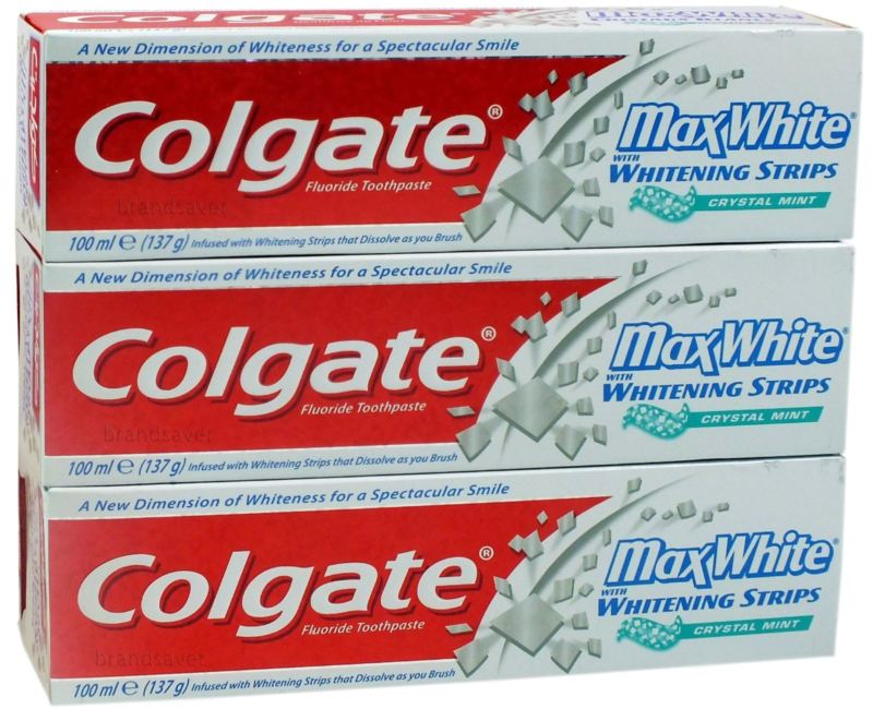 COLGATE MAX WHITE CLEAN Fluoride Toothpaste 100 MLx12Pack