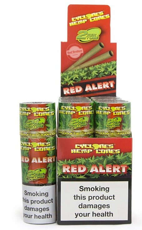 Cyclones Red Alert Cigar Cone (12 Pks of 2)