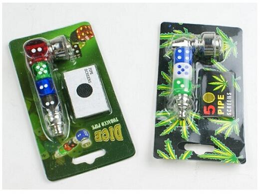 Dice Tobacco Smocking Pipes with 5 Screens (12)