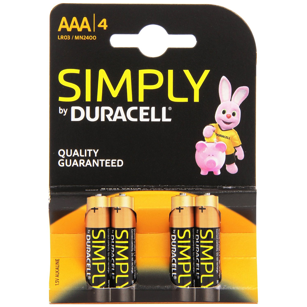 Duracell Simply MN 2400 Simply Batteries AAA (B4 x 10pk)