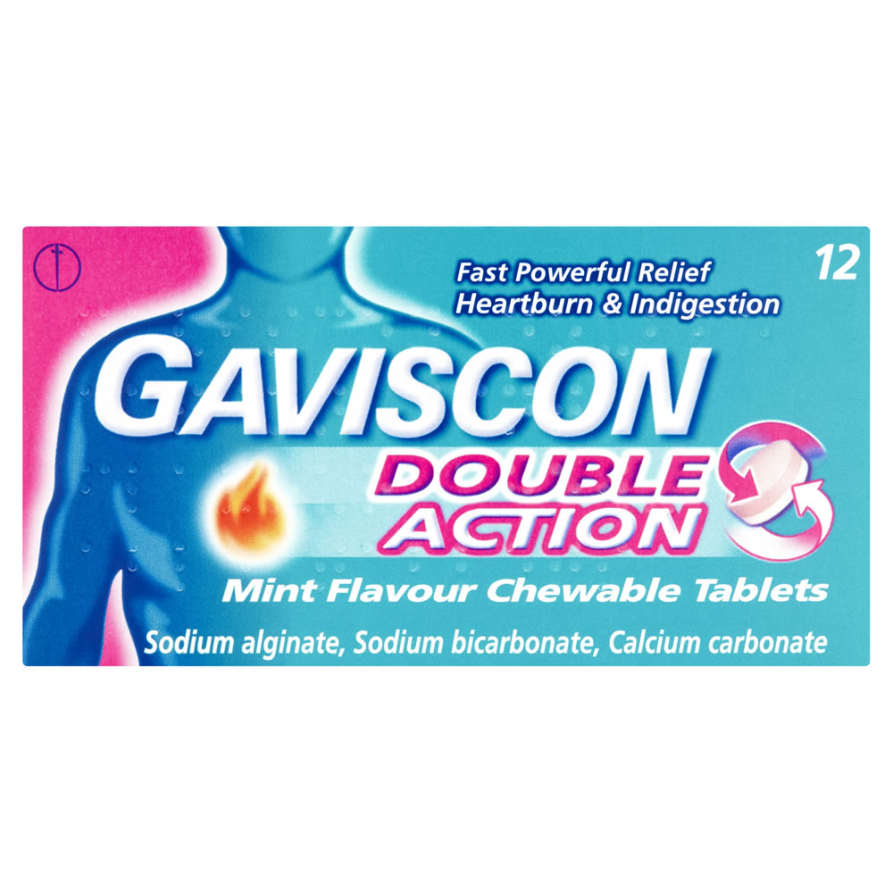 Gaviscon Double Action Tablets Mint 12 Chewable Tablets