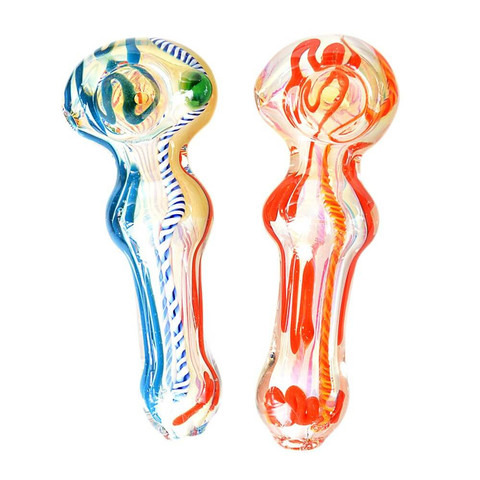 "5"" Glass Smoking Pipe Pk of 2 (1)"
