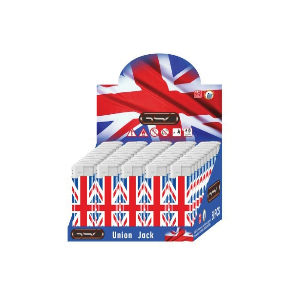Gsd Union Jack Electronic Refillable Lighter
