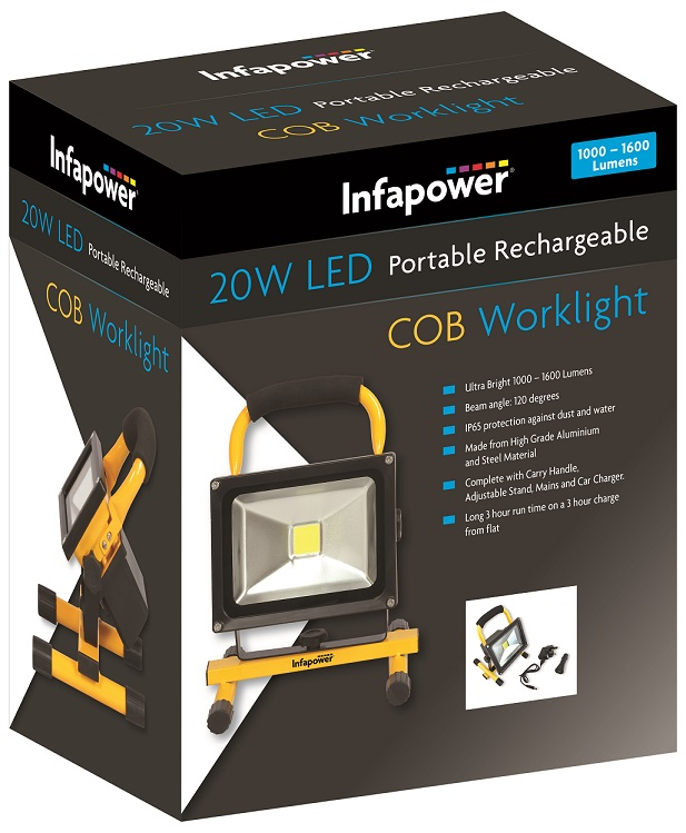 Infapower 20 Watt COB Rechargeable Work light