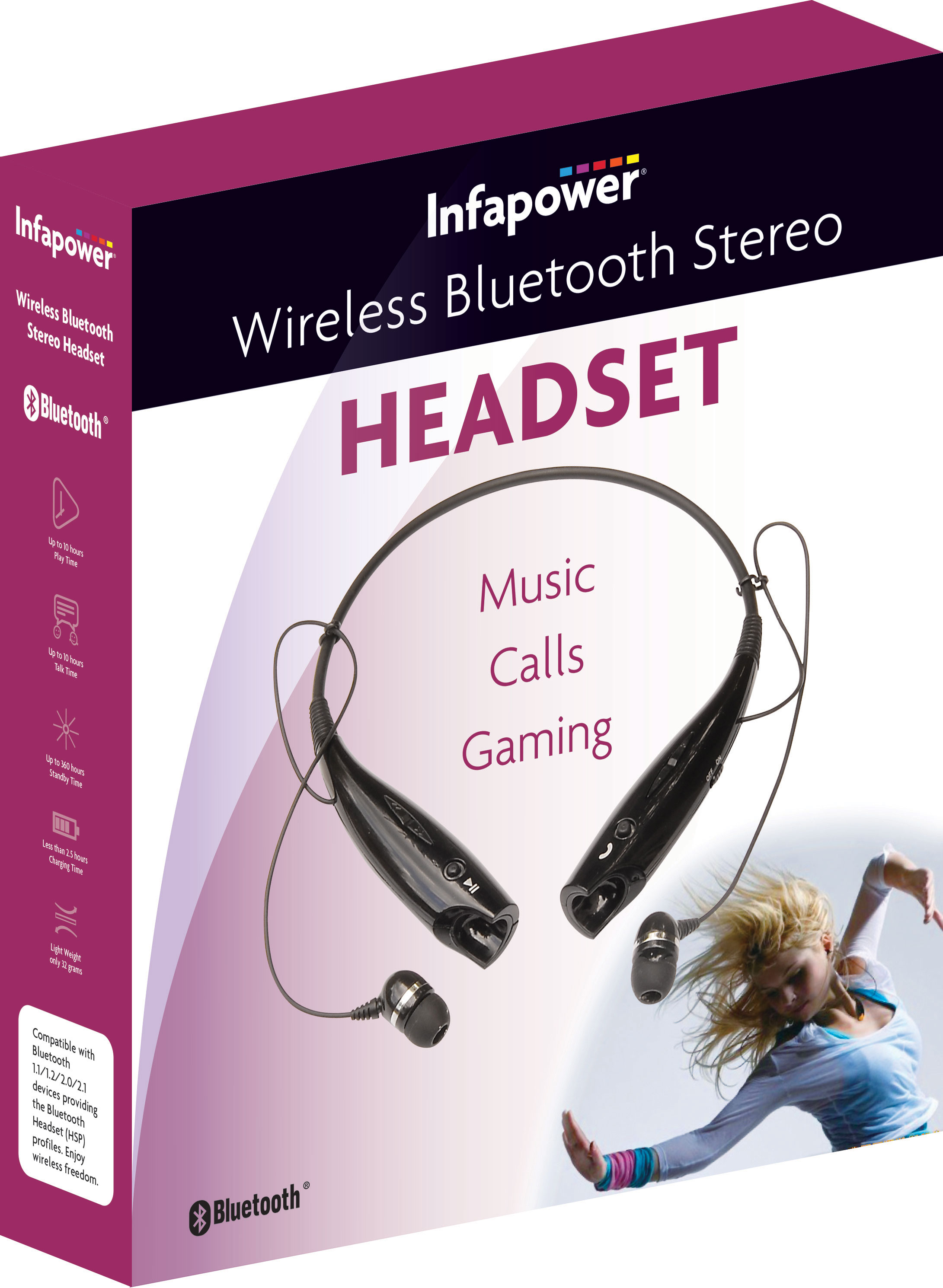 Infapower Wireless Bluetooth Headset X 304