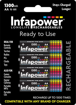 Infapower Rechargeables AA / 1300 mAh B4 (1)