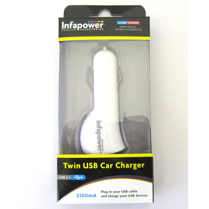 Infapower USB in-Car Charger 2100mA (1)