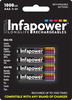 Infapower Rechargeable AAA / 1000 mAH B4 (1)