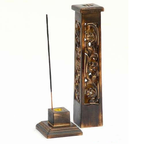 Incense Stick Holder Wooden Tower x 2pk