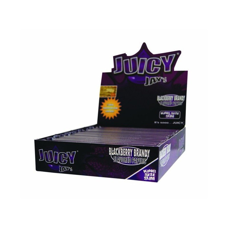 Juicy Jay`s King Size Slim Blackberry Brandy Flavoured 24 Papers