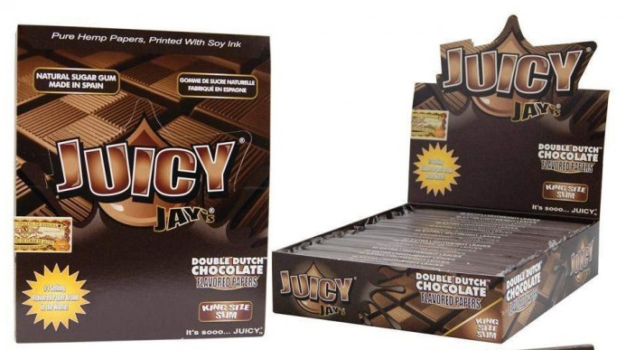 Juicy Jay`s King Size Slim Double Chocolate Flavoured 24 Papers