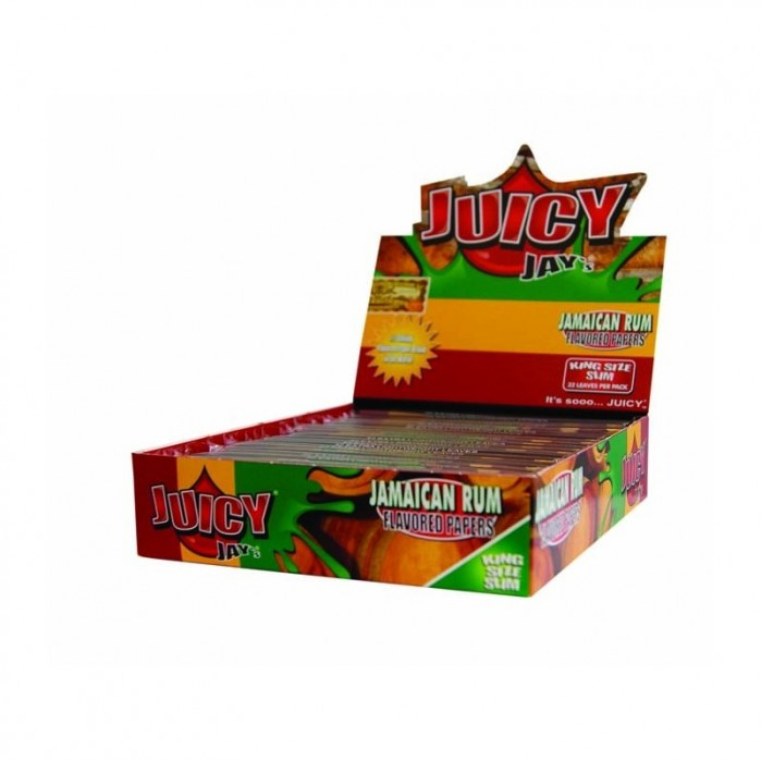 Juicy Jay`s King Size Slim Jamaican Rum Flavoured 24 Papers