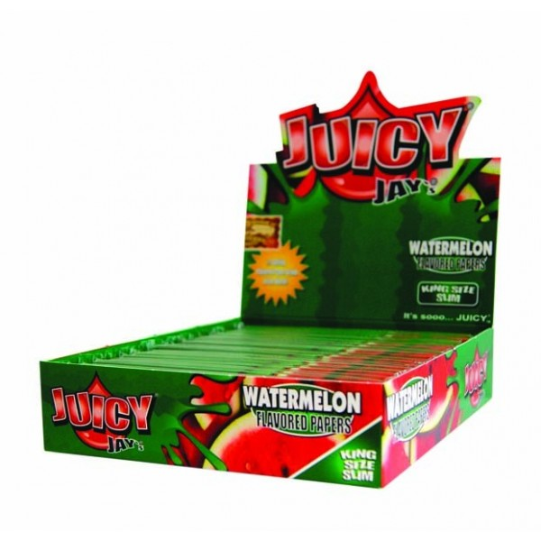 Juicy Jay`s King Size Slim Watermelon Flavoured 24 Papers