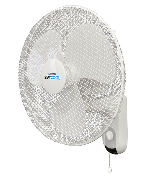 LLOYTRON STAY COOL' 16'' (40cm) 50w Wall Fan White F1421WH