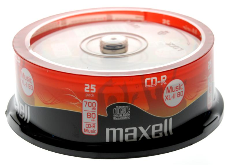 Maxell CD-R80 Audio(52x) 700MB Spindle (Pk of 25)