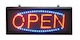 Large Red/Blue Landscape Static Open Sign