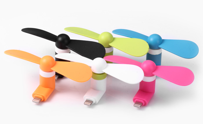 USB MINI Phone Fan Multicolour For iphone x12pcs