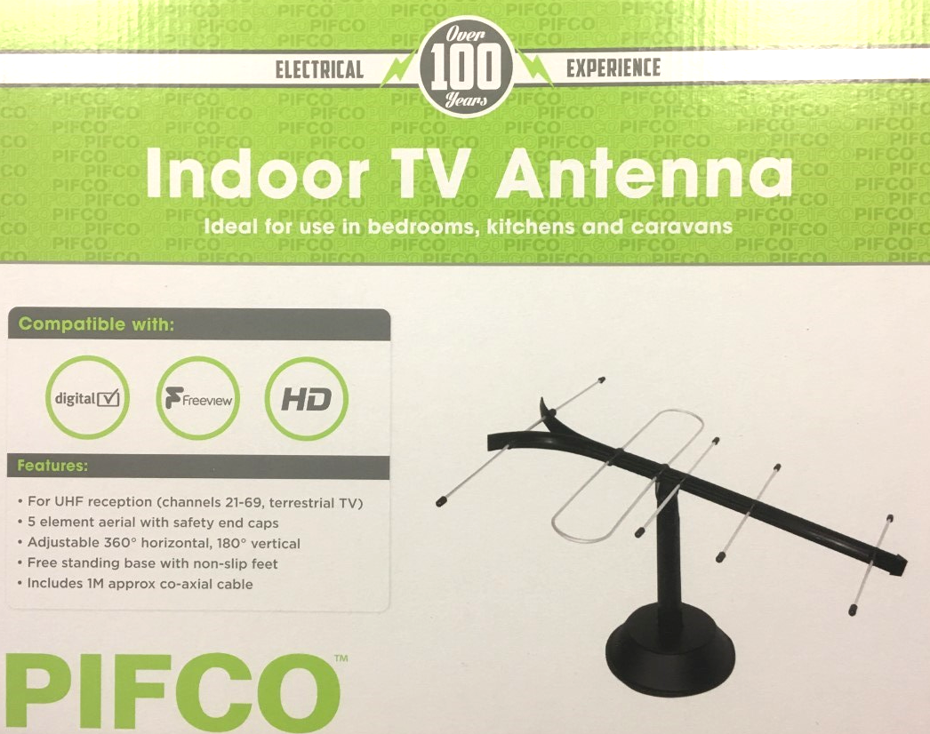 Pifco Indoor TV Antenna Digital Freeview HD Televisio(1)