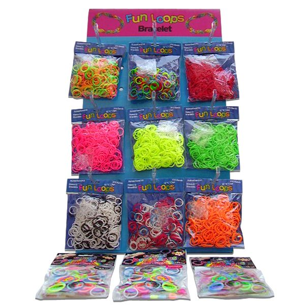 Loom Bands with Clips Colourful 300 X 24 Bags (1)