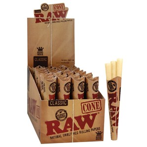 Raw Classic Pre-Rolled Cone Rolling Papers Box (3 Cones X 32 Pk)