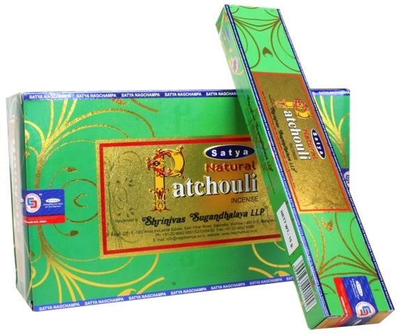 SATYA NATURAL PATCHOULI INCENSE STICKS 15g x12 box