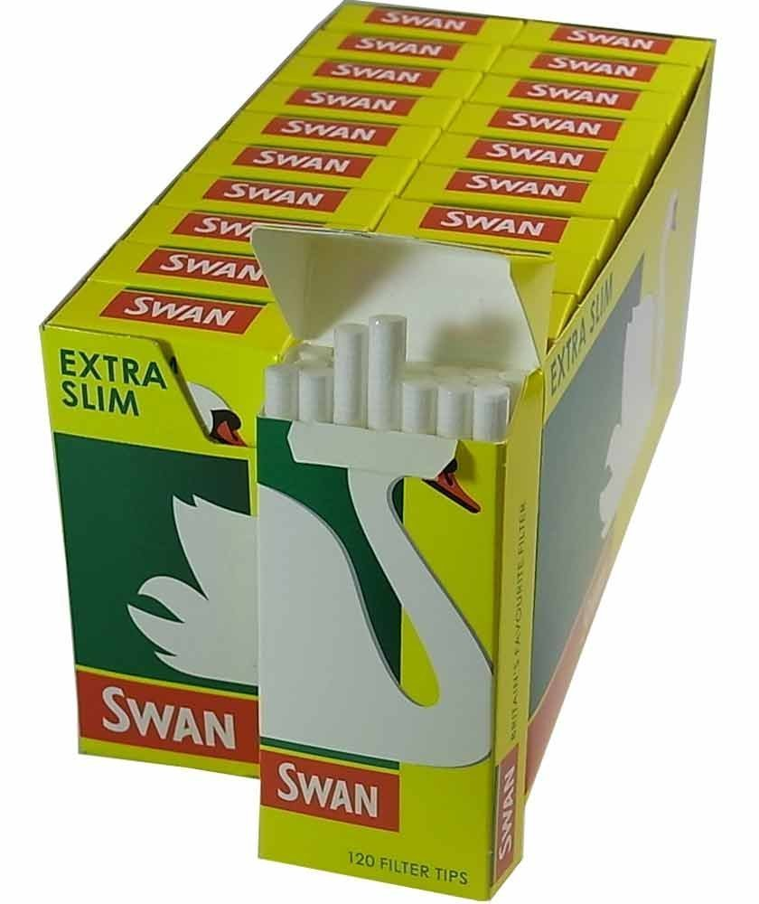 Swan Extra Slim Filter Tips 120 x 20pk (1)