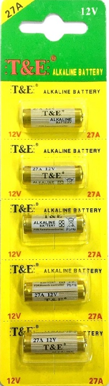High Voltage Battery 27A,MN27 12V (pk of 5)