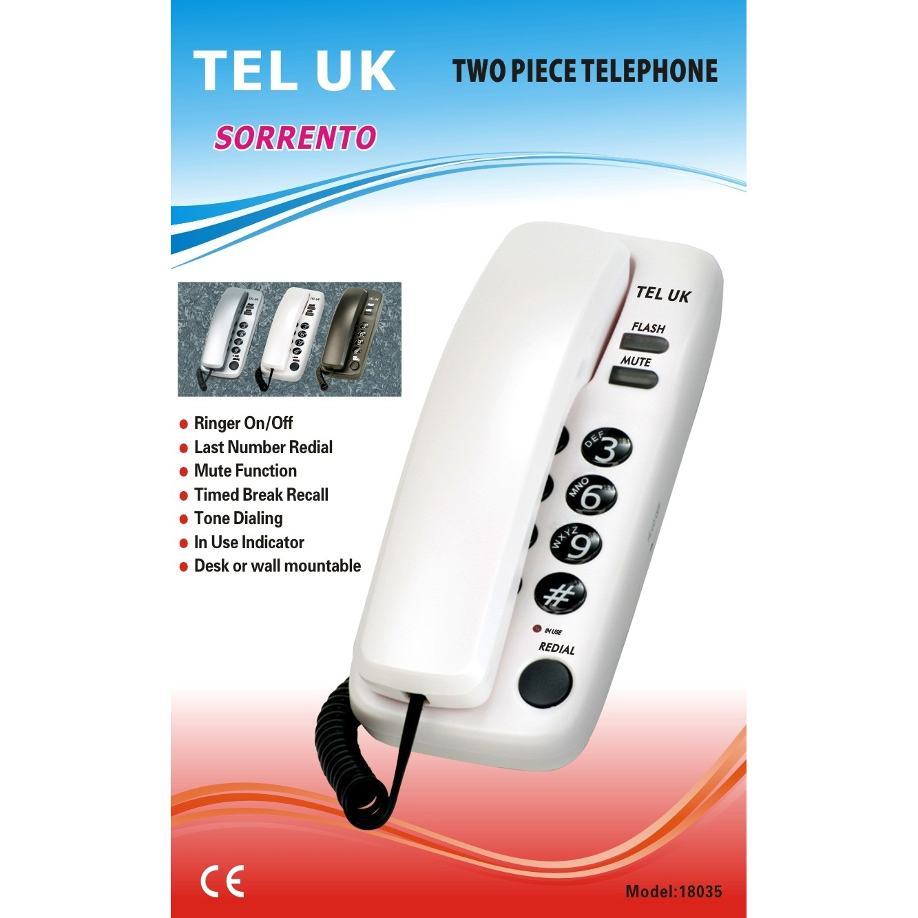 2 Pieces Desk & Wall Telephone (1)