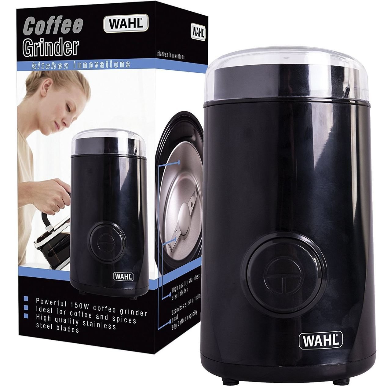 Wahl Coffee Spice Electric Grinder 60g Powerful with Pulse 150w