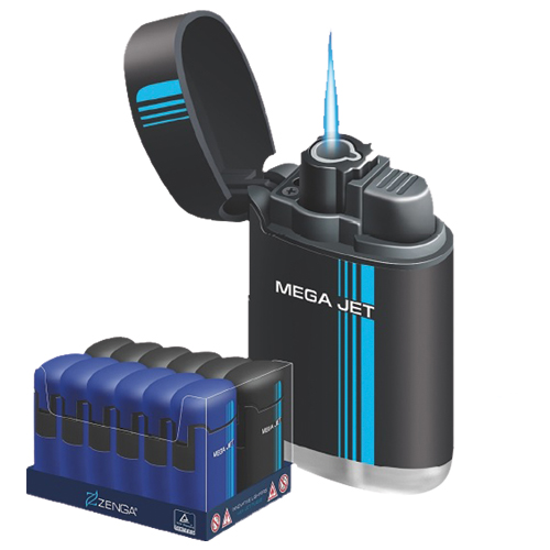 Zenga Jet Flame Maxi Jet Metallic Lighter 12 1